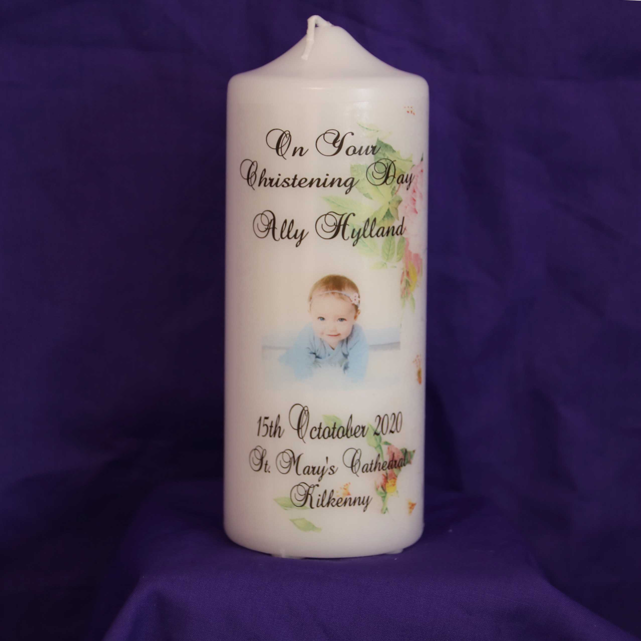 personalised gift candle
