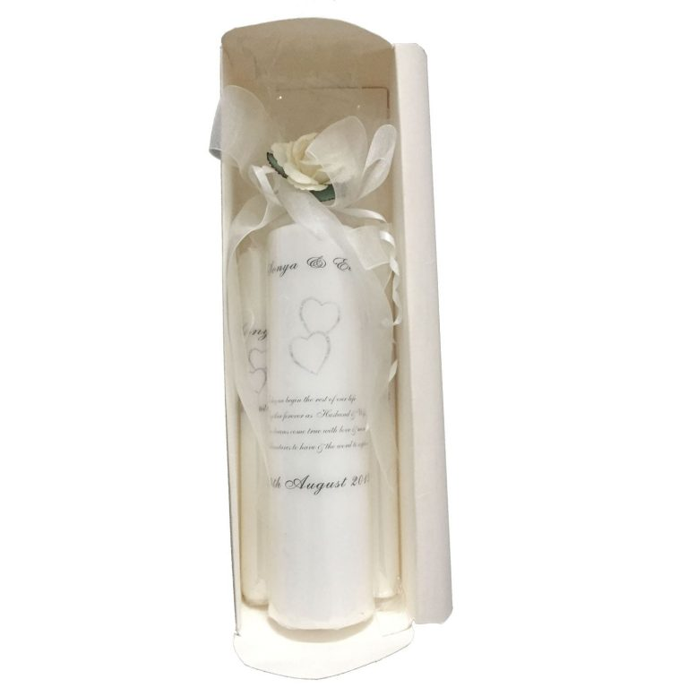 Personalised Luxury Wedding Candles (Boxed)-min