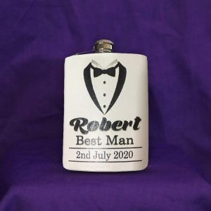 personalised gift flask men
