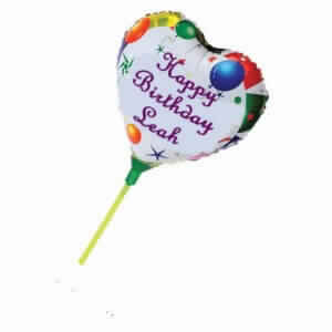 Mini Personalised Foil Balloons - Heart Shaped